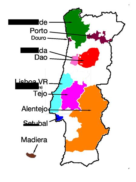 Wine In Portugal - Portugal estremadura map